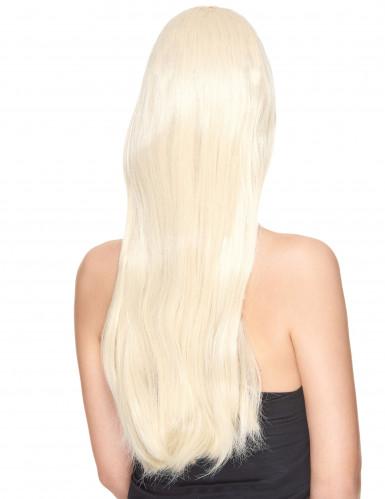 Meget Lang Luksuriøs Blond Paryk Kvinde-1