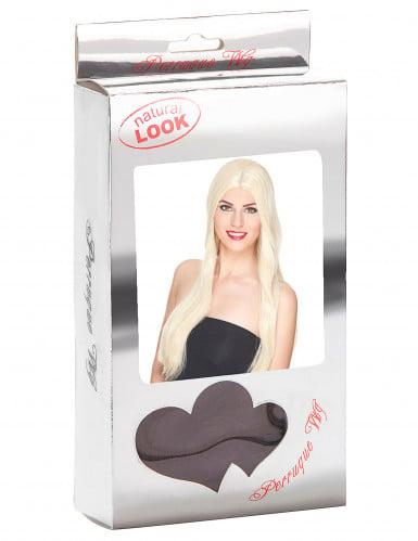 Meget Lang Luksuriøs Blond Paryk Kvinde-2
