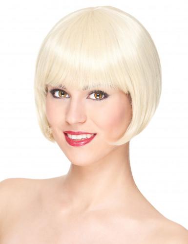 Luksuriøs Kort Blond Paryk Kvinde