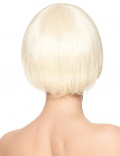 Luksuriøs Kort Blond Paryk Kvinde-1