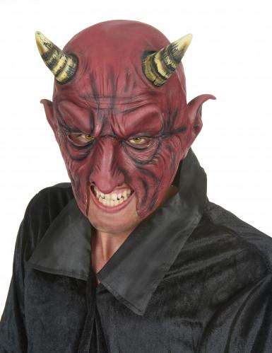 Dæmon Halvmaske af Latex Halloween Voksen