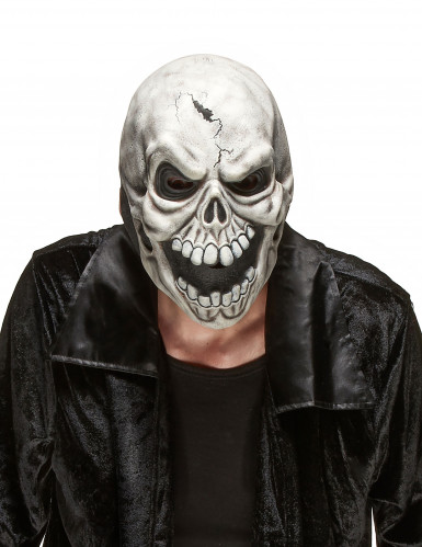 Skræmmende dødningehoved af Latex Halloween