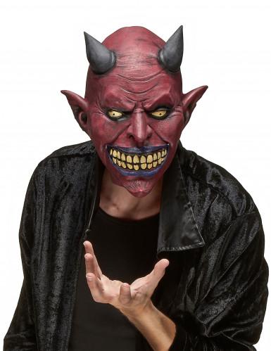 Dæmonisk Skabning Maske i Latex Halloween Voksen