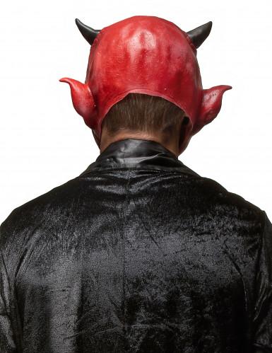 Dæmonmaske i Latex Halloween Voksen-1
