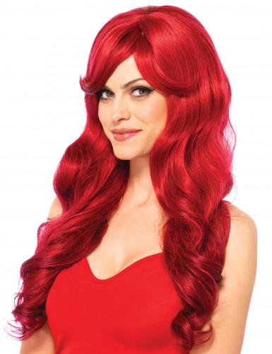 Lang Rød Paryk Kvinde