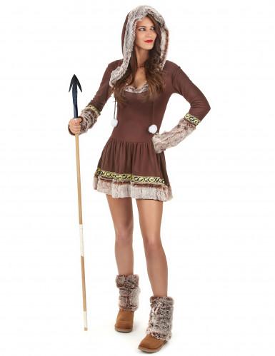 Sexet Eskimo brunt kvinde kostume