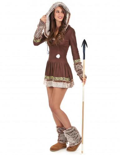 Sexet Eskimo brunt kvinde kostume-1
