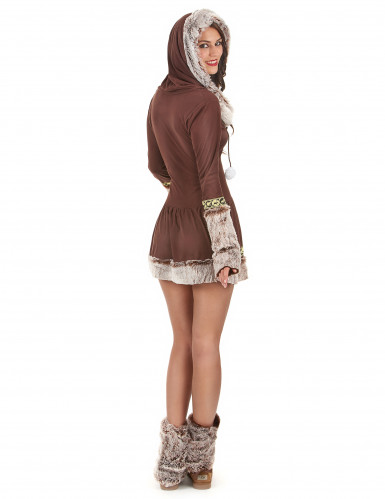 Sexet Eskimo brunt kvinde kostume-2
