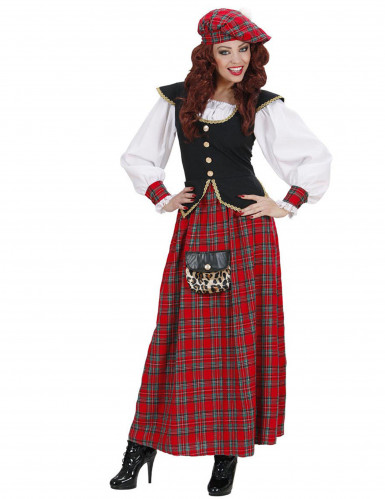 Skotsk kjole kvinde kostume