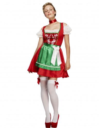 Oktoberfest serveringskjole rød kvinde kostume