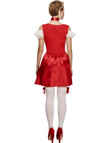 Oktoberfest serveringskjole rød kvinde kostume-2