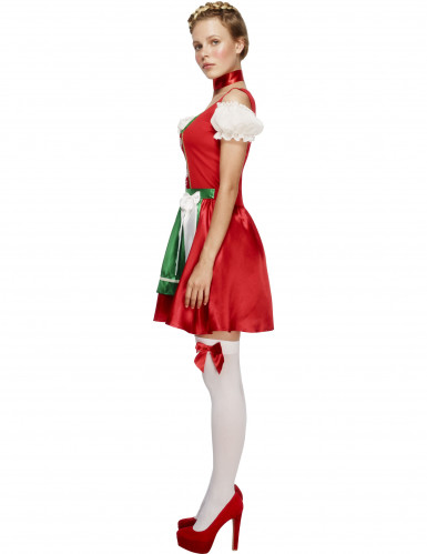 Oktoberfest serveringskjole rød kvinde kostume-1