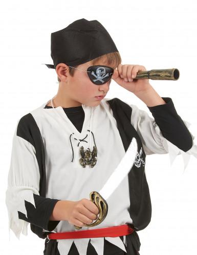 Pirat-sæt i plast med sværd, kikkert, tørklæde, smykke og øjenklap barn-1
