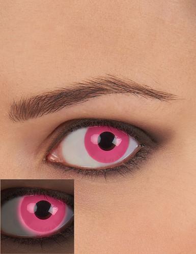 Pink UV-kontaktlinser voksen