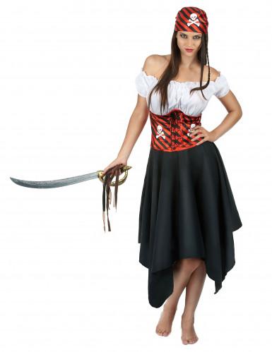 Dødens dame - Piratkostume til kvinder