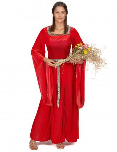 Middelalderkjole Rød