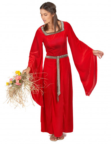 Middelalderkjole Rød-1