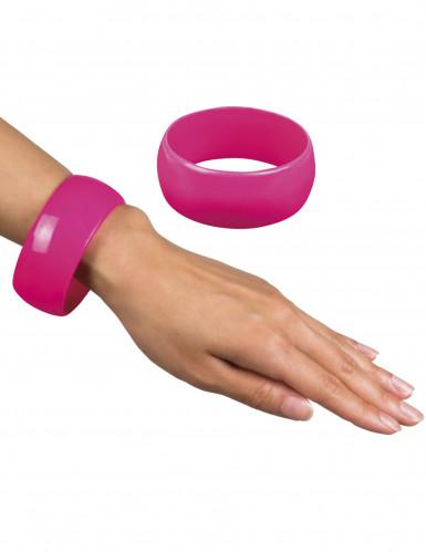 Armbånd bredt lyserødt til kvinder