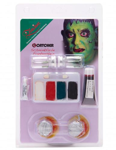 Makeupsæt monster grønt med fantasykontaktlinser voksne-1