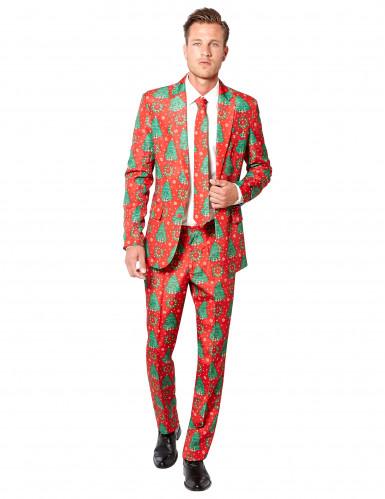 Jakkesæt Mr. Christmas rødt til mænd Suitmeister Jul