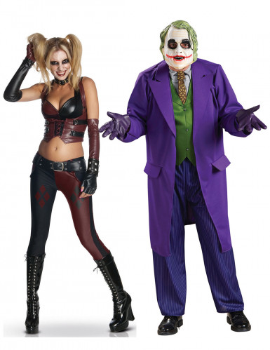 Parkostume Harley Quinn™ og Jokeren™