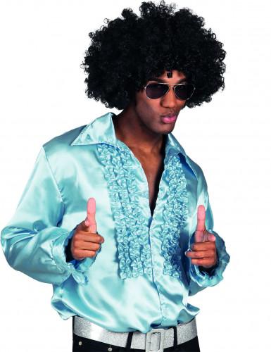 Lyseblå disko-skjorte mænd