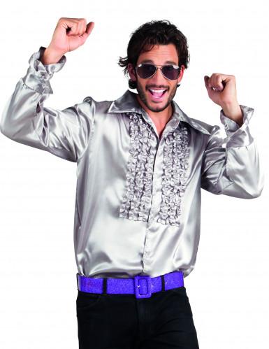 Disko-skjorte sølv mand