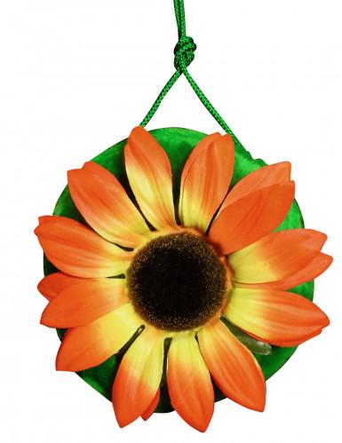 Taske hippie grøn med blomster