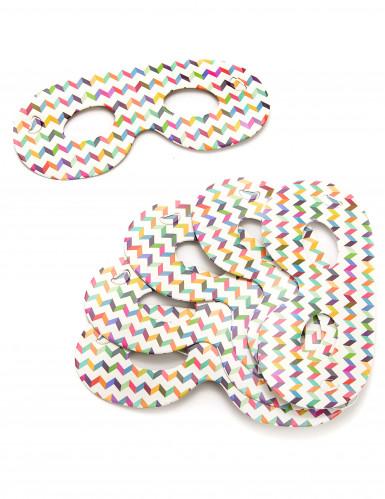 6 halvmasker i pap smarte flerfarvede