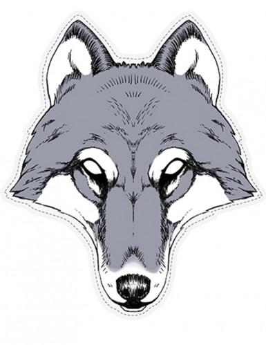 Maske af pap ulv