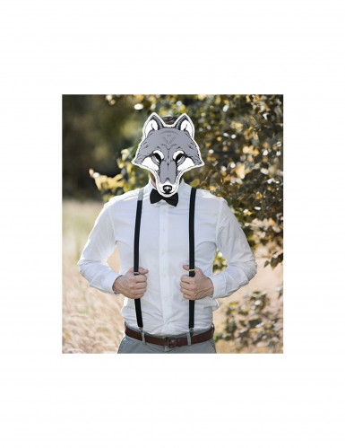 Maske af pap ulv-1