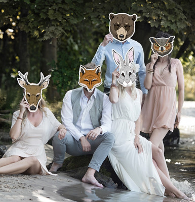 Maske af pap ulv-2