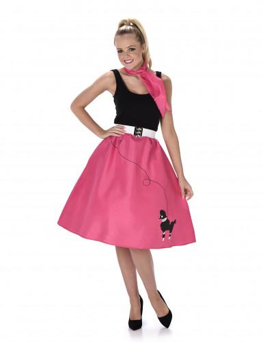 50'er kostume Pink Dame