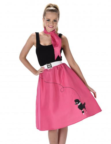 50'er kostume Pink Dame-1