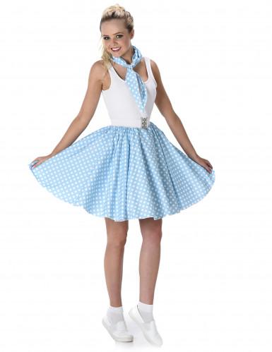 50'er kostume i lyseblåt Dame