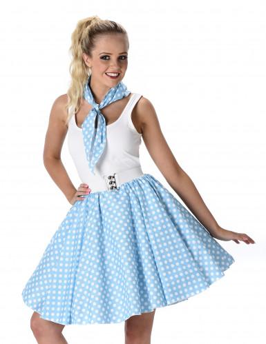 50'er kostume i lyseblåt Dame-1