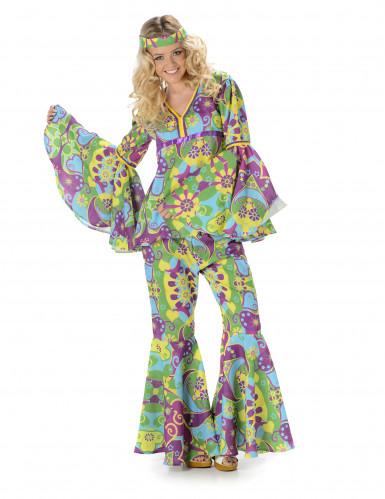 Hippiekostume Blomster Dame