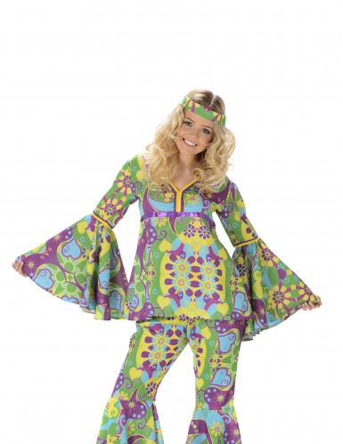 Hippiekostume Blomster Dame-1