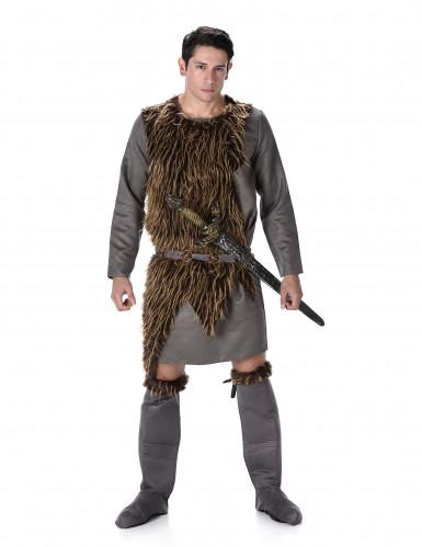 Vikingedragt med skind Mand
