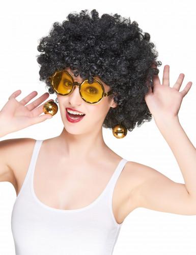 Guldfarvede Disco-briller voksen-1