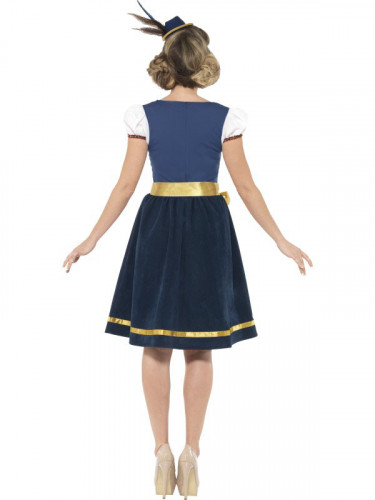 Traditionelt blåt oktoberfest kvinde kostume-1