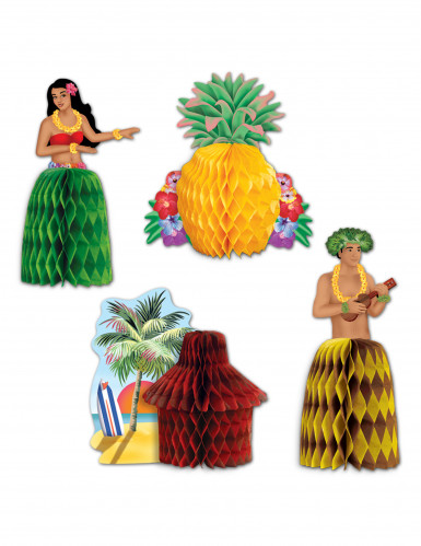 4 stk Hawaii borddekorationer
