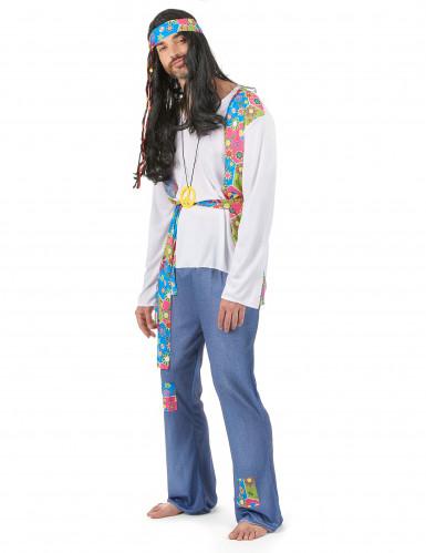 Parkostume hippie med farver til voksne-1