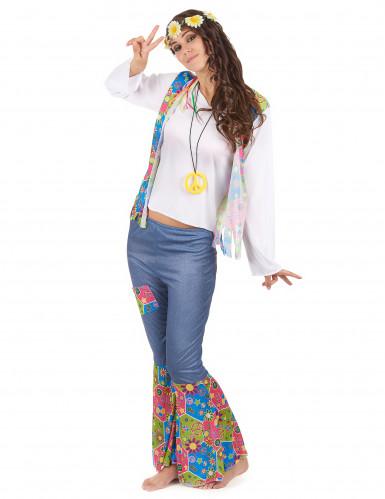 Parkostume hippie med farver til voksne-2