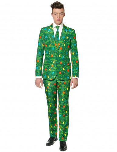 Jakkesæt Mr. Christmas grønt til mænd Suitmeister Jul