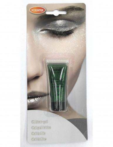 Gel med grøn glimmer