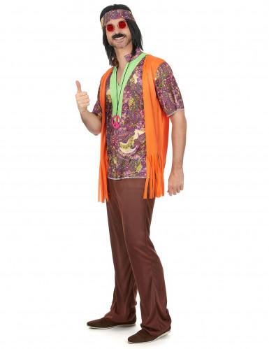 Par kostume hippie orange til voksne-1