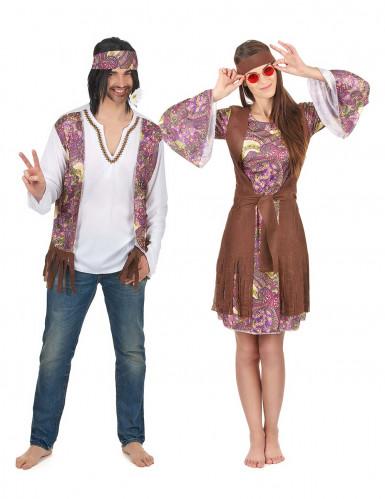 Lille mønstret hippie parkostume til voksne
