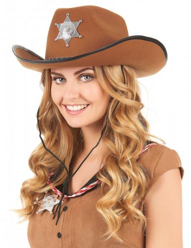 Cowboyhat sherif brun-1