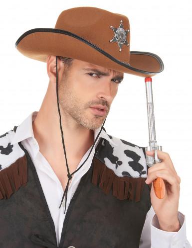 Cowboyhat sherif brun-2